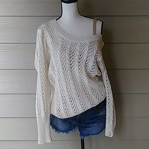 Textured See-through sweater size XL